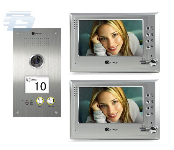 VIDEO DOMOFONS GENWAY F1 VIDEO 5809D + 2x3064