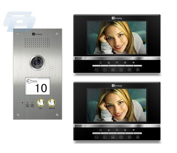 VIDEO DOMOFONS GENWAY F1 VIDEO 5809D + 2x3066